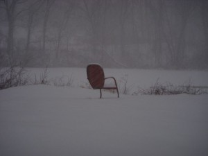 The chair at the pond