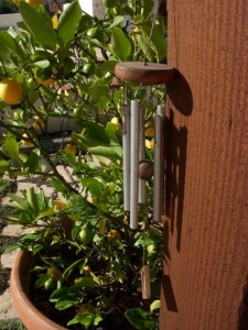 Well-traveled wind chimes