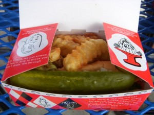 The Superdawg comes with fries, whether you want 'em or not.