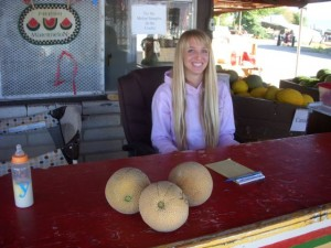 Taffy, a third-generation melon-farmer in Green River.