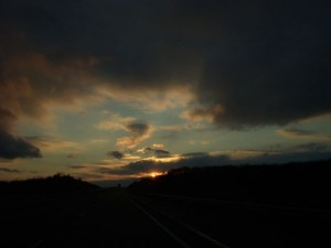 Oklahoma sunset.