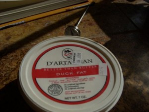 My lard is very, very good. But a little duck fat adds depth and dimension.