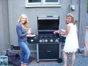 Julie doesn't realize how nervous I am about grilling her gazillion-dollar steaks.
